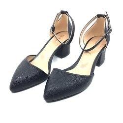 Womens Thick Heel Casual Shoes Siyahçatlak PLA32-405
