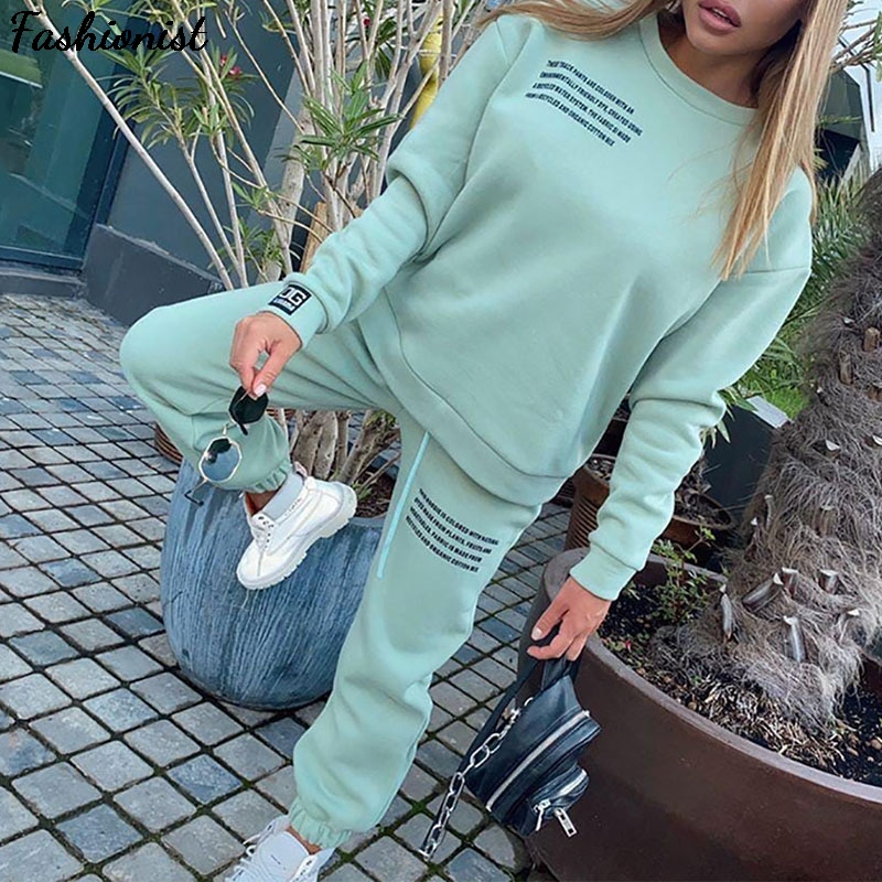 Women S Tracksuit 2021 Oversize Hoodie Long Sleeve Jogging Pants Suit Female Letter Sports Suits Female Fitness Sportswear Suit Best Price B62578 Cicig