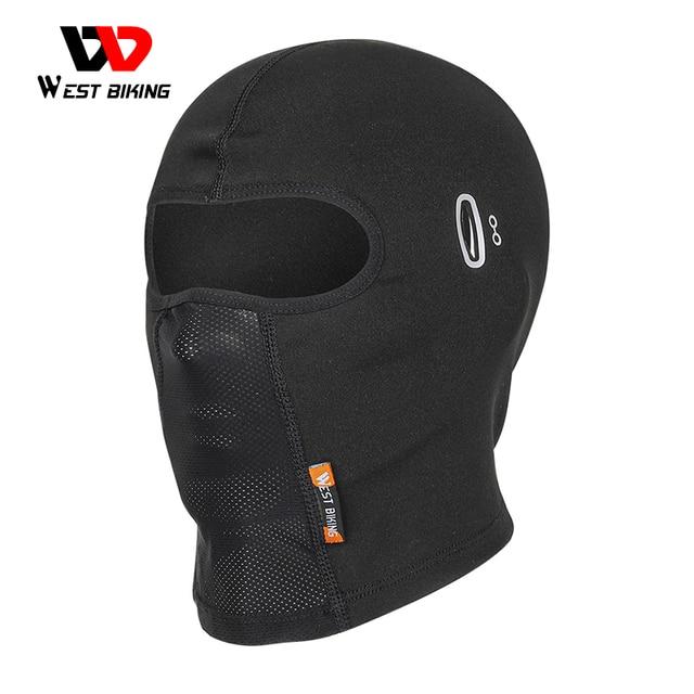 WEST BIKING Cycling Motorcycle Helmet Liner Thermal Warm Windproof Caps Breathable Comfortable Sports Headwear Men Womens Hat