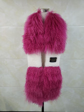 2019 ladies fur wool bib fashion soft casual generous out wearing easy to prevent wind and cold look good feminine