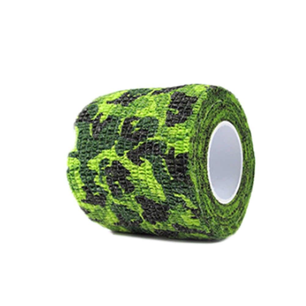 1 piezas auto-adhesivo camuflaje cinta retráctil tela no tejida cinta de camuflaje al aire libre en pegatinas de coche herramientas