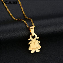 ICAM Styles Simple Family Pendant Necklace Stainless Steel Father Mother Girl Boy Love Family Series Necklace For Women Men(China)