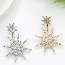 Novo conjunto de joias da moda brincos floco de neve femininos grandes e elegantes brincos de presente de aniversário acessórios