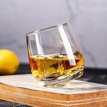 Vaso giratorio creativo para vino, Scotch Whisky, cristal Rock, para Bar, oficina, hogar, cerveza, Jack, Whisky, taza de cristal, venta al por mayor