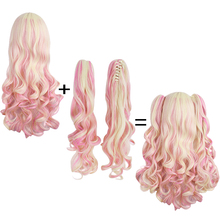 ponytails Synthetic hair Heat Resistant wigs