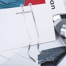 FSUNION 2019 Hot Korean Minimalist Style Ear Accessories All Match Long Earrings Metal Snake Chain Tassel For Women