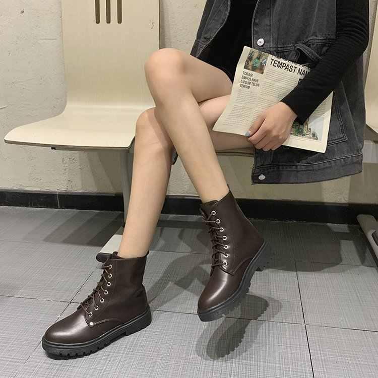 แฟชั่นข้อเท้าสีดำผู้หญิงฤดูหนาวรองเท้าส้นสูงรองเท้าสุภาพสตรี chunky รองเท้า chaussures femme zapatos botas mujer