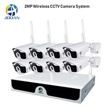 8CH NVR ระบบ Plug and Play ระบบกล้องวงจรปิด P2P ไร้สาย 1080P HD NVR HD 2.0MP กลางแจ้งอินฟราเรดกันน้ำ
