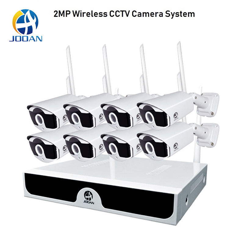 8CH NVR Surveillance System Plug and Play CCTV System P2P Wireless 1080P HD NVR With HD 2.0MP Outdoor Infrared Waterproof