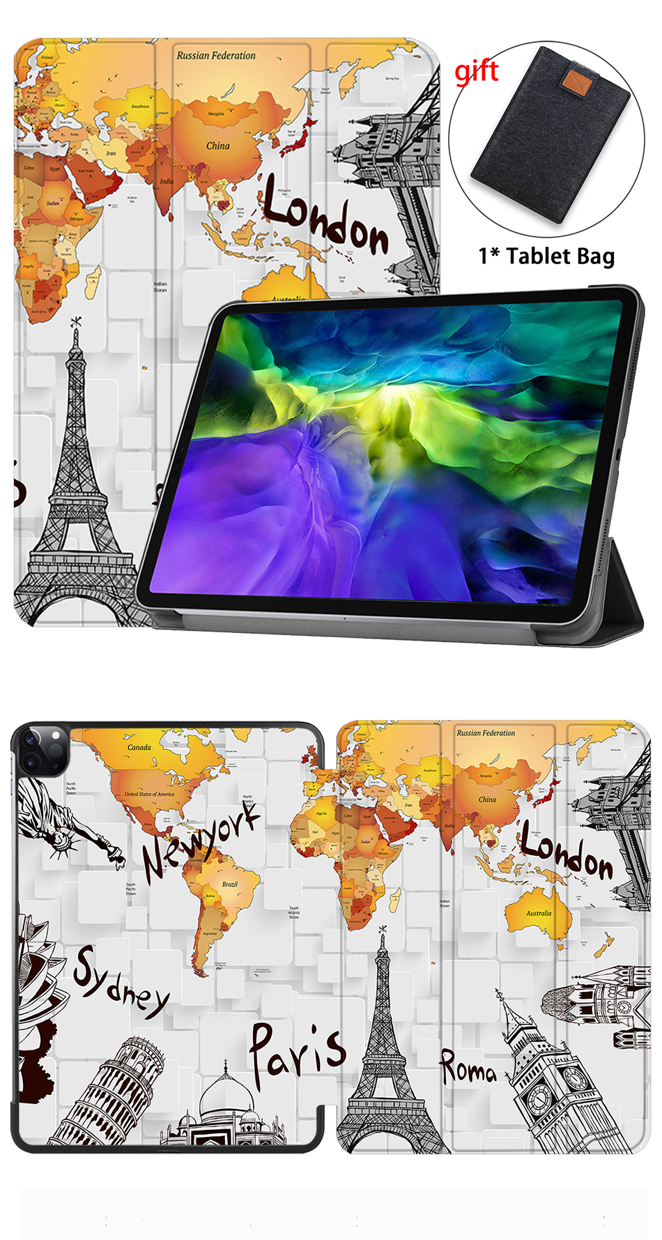 Cover Fold Pro 11 inch iPad PU Flip 2020 For Leather Case Smart Protective Magnetic MTT