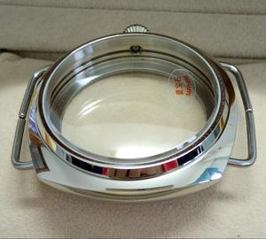 Image 3 - 45mm Sapphire crystal Polished Stainless Case Fit 6497 6498 Movement High quality watchcase wholesale 010a