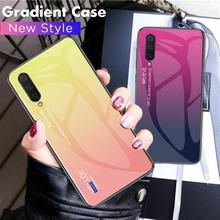 Чехол из закаленного стекла с градиентом для Xiaomi Mi CC9 E Mi 9 SE 8 A3 Lite A2 Mix 2S 6X 5X Max 2 3 Redmi Note 5 6 7 Pro 6A 7A, Жесткий Чехол