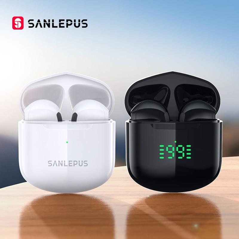 Новые беспроводные наушники SANLEPUS SE12 Pro Bluetooth наушники TWS игровая гарнитура HiFi стерео наушники с микрофоном для iPhone Android