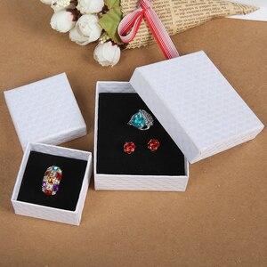 Image 5 - 24Pcs 7x9cm תכשיטי אריזת מתנה יהלומי דפוס נייר תכשיטי אריזה עבור שרשרת טבעת עגילי תצוגת תיבה עם שחור ספוג
