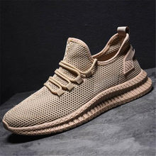 Men's shoes sneakers flat men's casual shoes comfortable men's shoes breathable mesh movement Vulcanized shoes male(China)