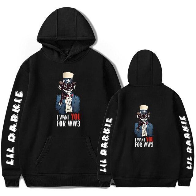 New Lil Darkie Hoodie Sweatshirt Men Women Fashion Hip Hop Hoodies Rapper Lil Darkie Pullovers Streetwear Trend Oversize Hoodies