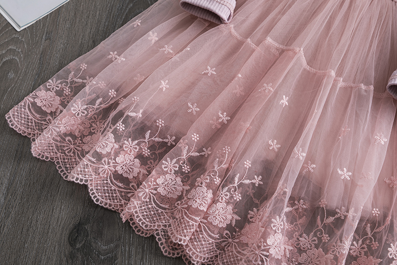 Hd0dc140a8040417aa0bbf43deae8f3beN Red Kids Dresses For Girls Flower Lace Tulle Dress Wedding Little Girl Ceremony Party Birthday Dress Children Autumn Clothing