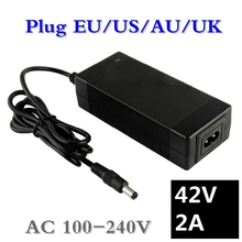 36V 2A battery charger Output 42V 2A Charger Input 100-240 VAC Lithium Li-ion Li-poly Charger For 10Series 36V Electric Bike 42v 2a electric bike lithium battery charger for 36v electric scooter microphone xlr head good quality