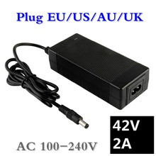 36V 2A acculader Uitgang 42V 2A Charger Input 100-240 VAC Lithium Li-poly oplader Voor 10Serie 36V Elektrische Fiets(China)