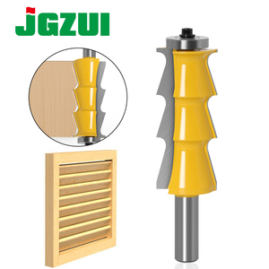 """Image 1 - 1pc Louver Shutter Style Router Bit   1/2"""" Shank 12mm shank door knife Woodworking cutter Tenon Cutter for Woodworking Tools"""