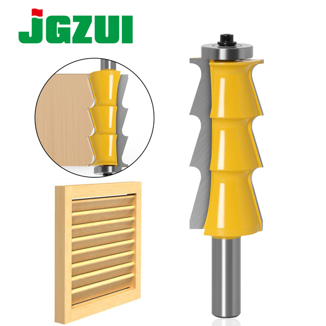 """1pc Louver Shutter Style Router Bit   1/2"""" Shank 12mm shank door knife Woodworking cutter Tenon Cutter for Woodworking Tools"""