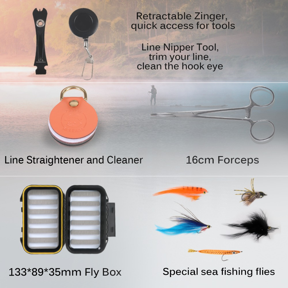 Рыболовная удочка Maximumcatch для морской рыбалки, полный комплект, 9 футов, 8-12wt, рыболовная удочка для ловли нахлыстом, алюминиевая катушка для ловли нахлыстом с ЧПУ 5