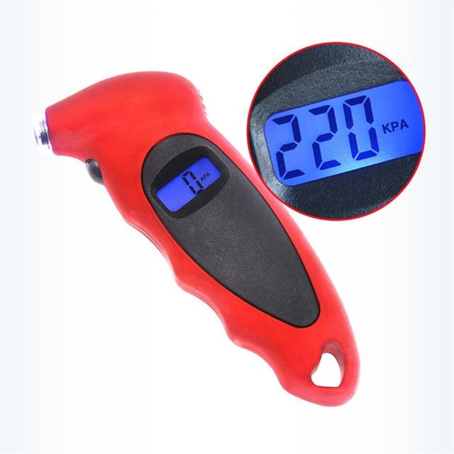 ยางเครื่องวัดความดัน0 150 PSI Backlightดิจิตอลความแม่นยำสูงความดันยางรถวัดความดันยาง