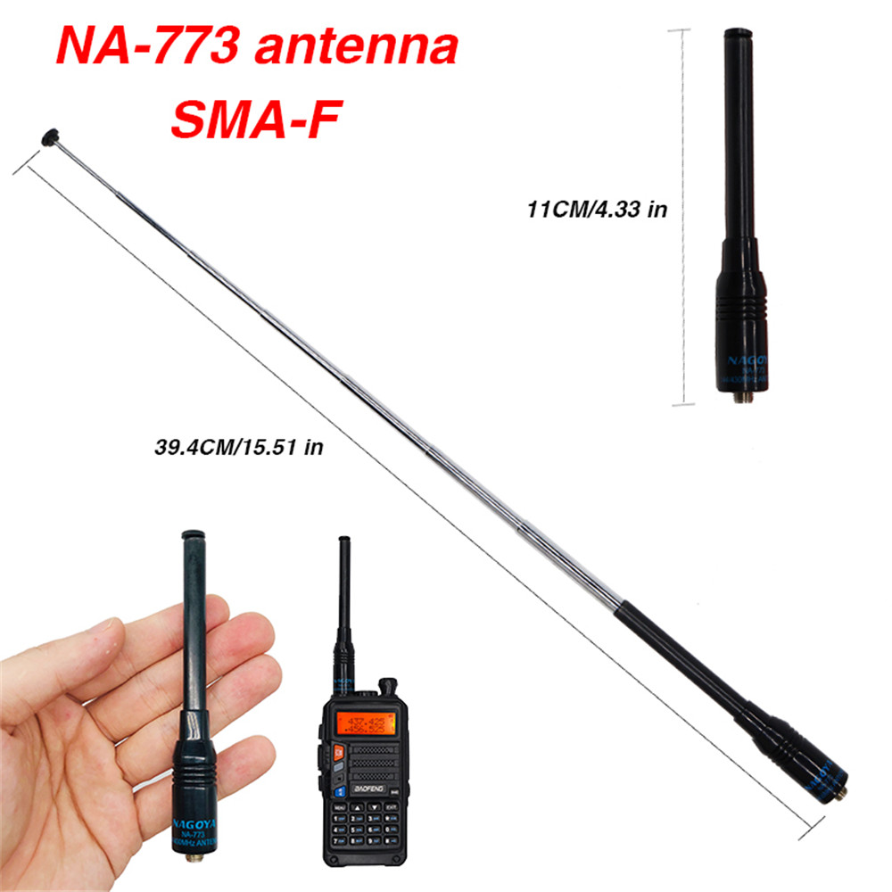 Flexible Nagoya NA-773 SMA Female VHF UHF Dual Band Flexible Walkie Talkie Antenna For Kenwood BaoFeng UV-5R UV-82 BF-888S UV-9R