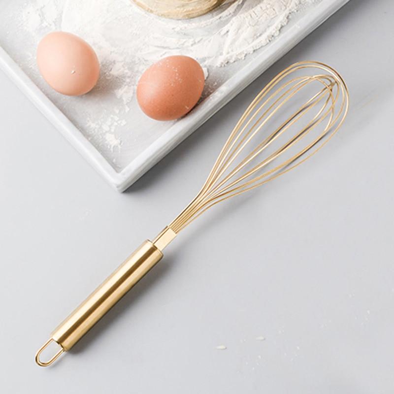 Stainless Steel Egg Beater Hand Whisk Egg Mixer Tool Kitchen Utensil Baking Cake Tool