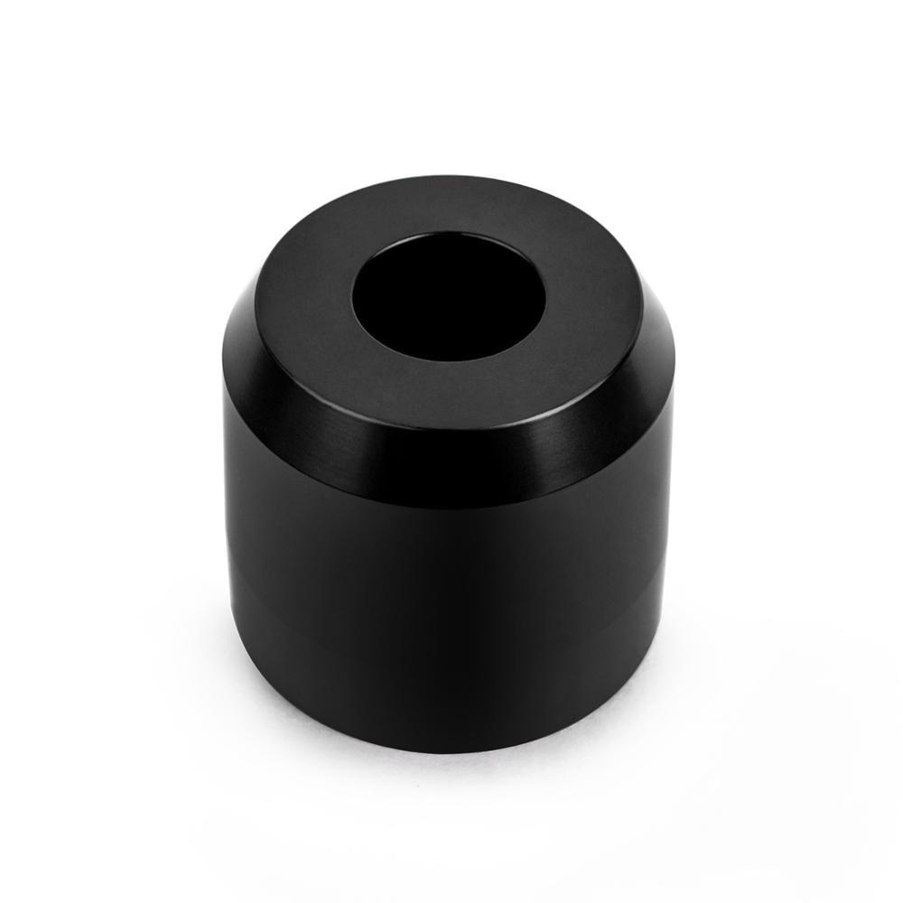 QSHAVE Luxurious Black Razor Solo Stand/Base Brushed Aluminum Alloy Adjustable Safety Razor Stand (Razor Not Included)