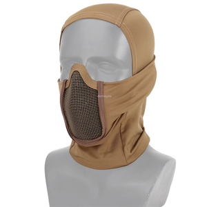 Image 5 - Tactical Full Face Mask Balaclava Cap Motorcycle Army Airsoft Paintball Headgear Metal Mesh Hunting Protective Mask
