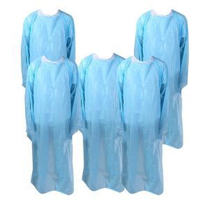 5Pcs Usa E Getta Grembiule Impermeabile Per Uso Domestico Grembiule Di Plastica Grembiule Lavori di Casa Grembiule Blu