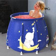 Składane wanna dorosłych moczenie wanny przenośne wody 120 minut ogrzewanie nadmuchiwana wanna masaż Spa domu łazienka baryłkę
