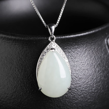 selling sterling silver jade sautoir natural hetian jade pendant with certificate of atmospheric 925 white jade pendant 925 sterling silver natural hetian white jade handmade hair sticks magpie butterfly design hairwear for women charms jewelry