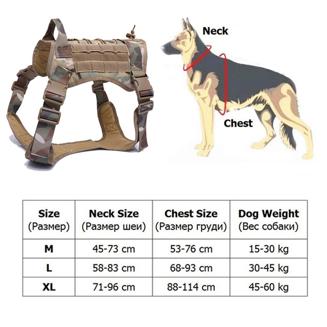 Tactical Service Dog Vest Breathable military dog clothes K9 harness adjustable size Training Hunting Molle Dog tactical Harness 5