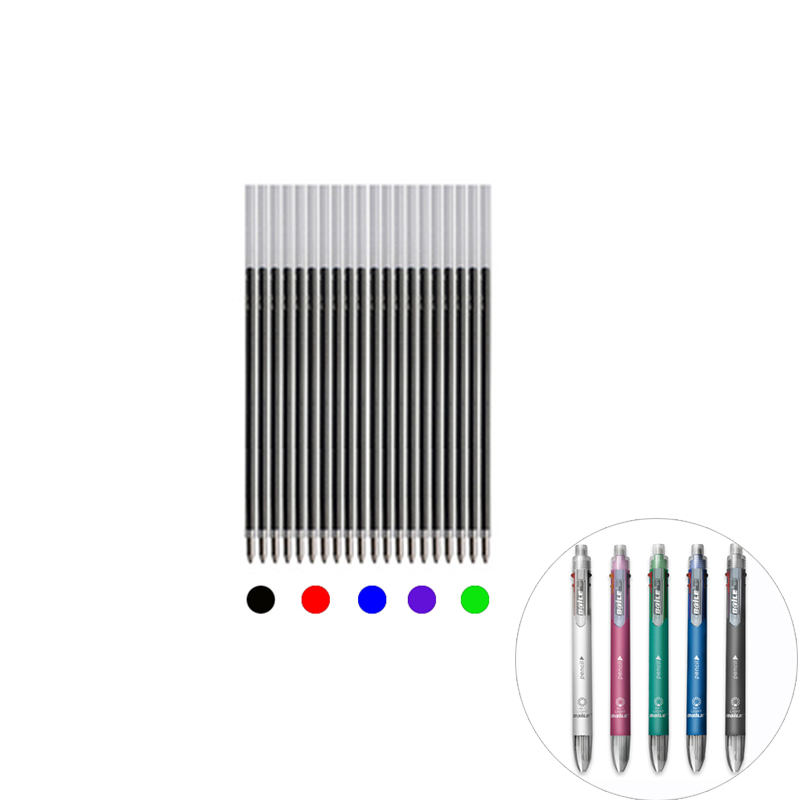 5pcs/lot Special Refills For 6 In 1 Ballpoint Pen 191A 5 Colors Black Blue Red Purple Green Ink Refill 8.7cm Length