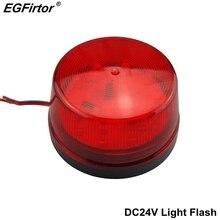Охранная сигнализация DC12V Свет стробоскоп сигнал безопасности Предупреждение красный мигающий светодиодный свет для Садовая аллея прихожей здания
