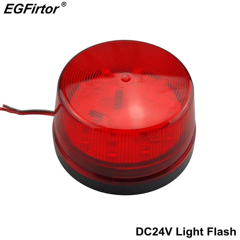 Security Alarm DC12V Light Strobe Signal Safety Warning Red Flashing LED Light For Walkway Garden Hallway Building