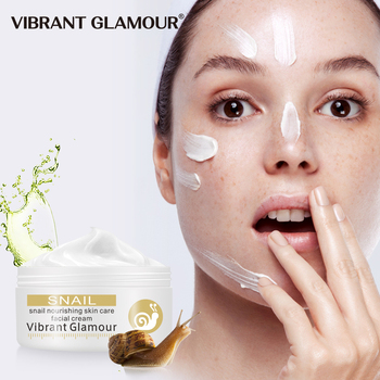 VIBRANT GLAMOUR Snail Face Cream Whitening Remove Pigment Spots Brighten Skin Control Oil Anti Wrinkle Anti Aging Skin Care New недорого