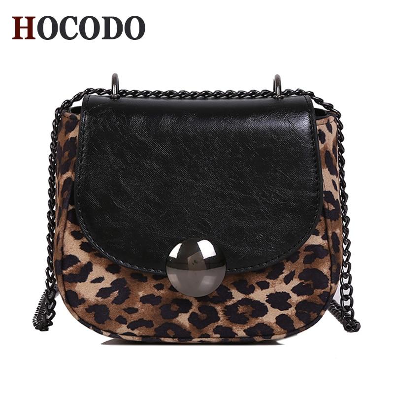 Women Leopard Chain Crossbody Bags Purse Tassel Shoulder Messenger Suede Handbag