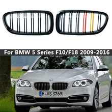 1 Pair Gloss Black M Color Front Kidney Grille For F10/F18 528i 530i 535i 2009-2016 Sedan/Wagon Grills Car Styling