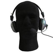 1 X Male Mannequin Styrofoam Foam Manikin Head Model Wig Glasses Display Stand