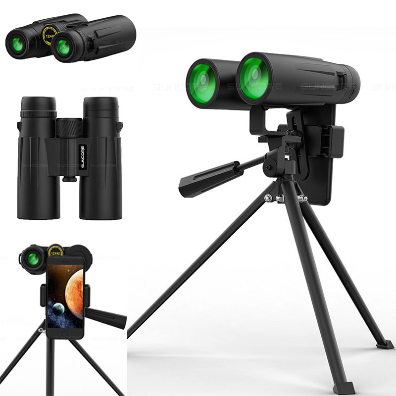 Zoom 12x42 Professional Binoculars Powerful Military binocular Optical glass HD Telescope Night Vision  For Outdoor Hunting