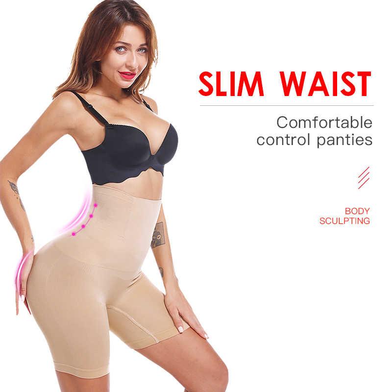 Bumbum levantador sem costura mulheres cintura alta emagrecimento barriga controle calcinha cuecas cuecas shapewear underwear corpo shaper senhora