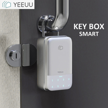 YEEUU K1 Smart Key Box Password / Fingerprint Bluetooth Support Tuya / Smartlife APP Aluminum Alloy Key Box Weatherproof