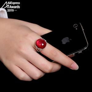 Image 3 - S925 בסדר עתיק חנות טבעת 925 כסף סטרלינג נשים בעבודת יד בציר טבעי אני אוהב אמא רובי אדום ג ספר