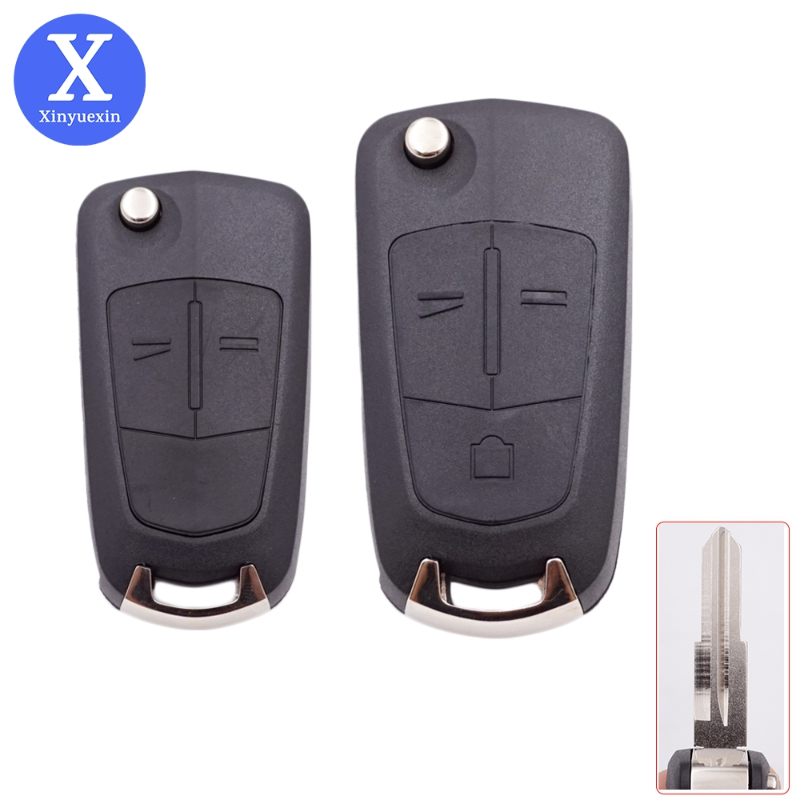 Xinyuexin Car Folding Key Shell for Opel Antara AMPERA Key for Chevrolet Epica 2 3 Buttons Control Blank Housing