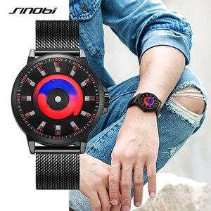 Image 3 - SINOBI New Creative Sports Quartz Wirstwatch Men Miyota Movement Watch Mens TOP Watches Fashion Rotation Clock Relogio Masculino