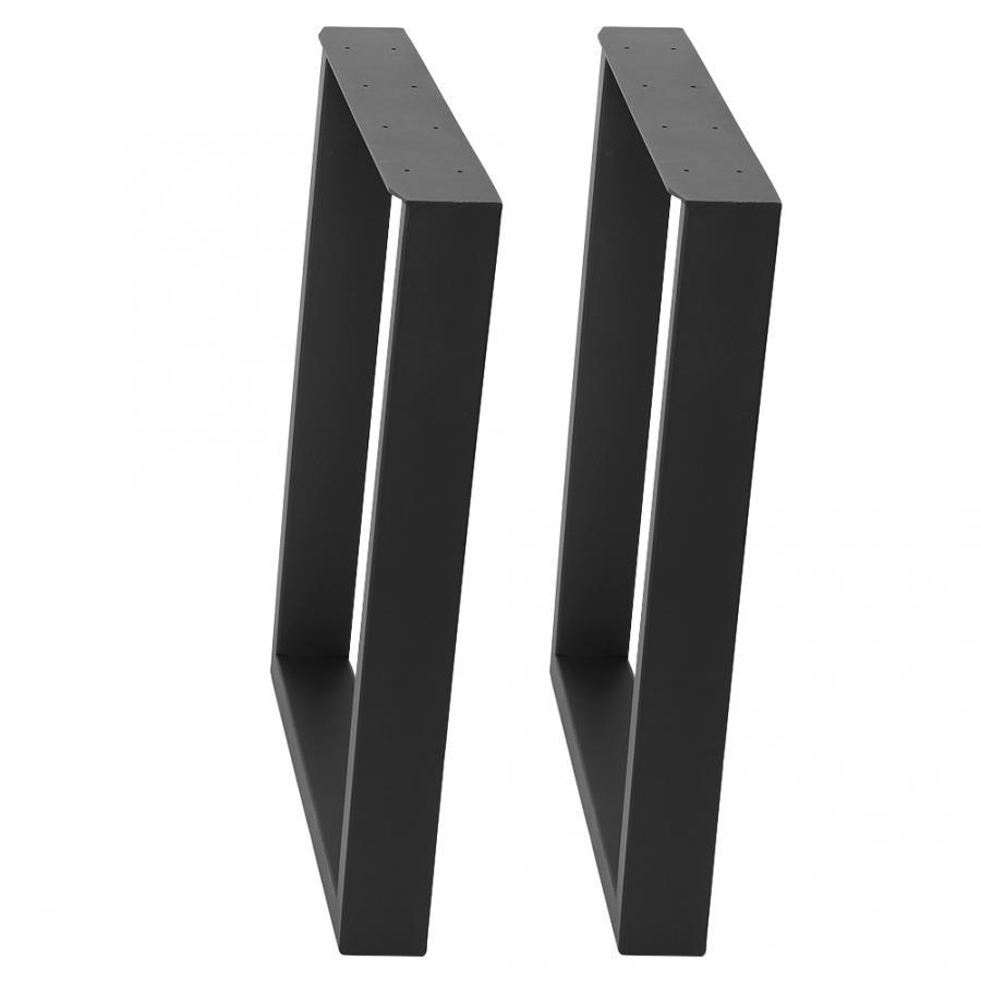 2PCS Table Legs Brackets Steel Industrial Desk Leg For Home Furniture Industrial Table Legs Black/Gray