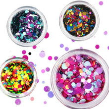 Fashion Irregular Shell Paper Sequin DIY Nail Flakies Colorful Paillette Glitter Nail Art Sequins for 3D Nail Art Decoration